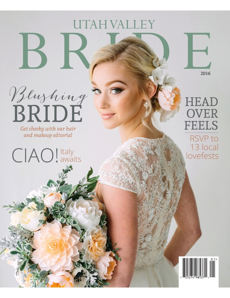 Utah Valley Bride Magazine Cover